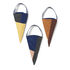 Christmas decoration - / Set of 3 cones to hang - Fabric by Ferm Living