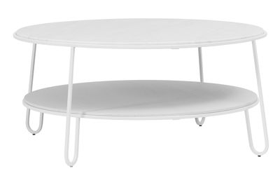 Furniture - Coffee Tables - Eugénie Large Coffee table - / Ø 90 - Marble by Hartô - White / Marble - Marble, Steel, Wood