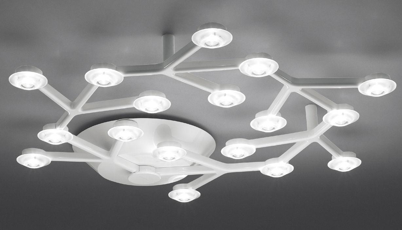 Leuchten - Deckenleuchten - LED NET Deckenleuchte rund - Ø 65 cm - Artemide - Weiß - bemaltes Aluminium, Methacrylate