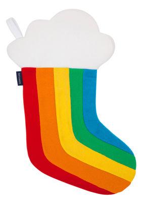 Décoration de Noël Arc-en-ciel / Chaussette à suspendre - Sunnylife multicolore en tissu