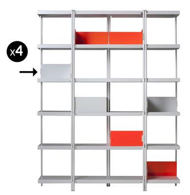 Image of Reggilibri per libreria ZigZag / Set da 4 - Driade - Bianco - Metallo