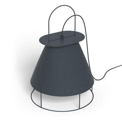 Image of Lampada nomade Claude - / da poggiare o da appendere - Tessuto & metallo di Hartô - Grigio - Metallo/Tessuto