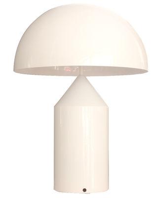 Luminaire - Lampes de table - Lampe de table Atollo Large Métal / H 70 cm / Vico Magistretti, 1977 - O luce - Blanc - Aluminium verni