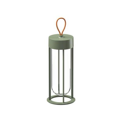 Luminaire - Lampes de table - Lampe sans fil In Vitro Unplugged / LED -  By Starck - Flos - Vert pâle - Aluminium, Verre borosilicaté