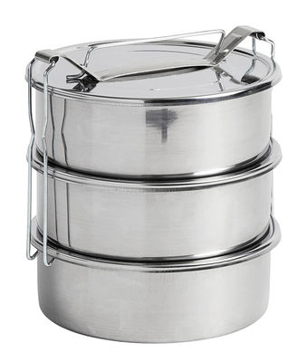 Kitchenware - Kitchen Storage Jars - Pinic Lunch box - / 3 compartments by Hay - 3 compartments / Steel - Stainless steel