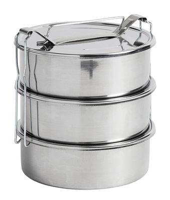 Cucina - Lattine, Pentole e Vasi - Lunch box Pinic - / 3 scomparti - Ø 18 cm di Hay - 3 scomparti / Acciaio - Acciaio inossidabile