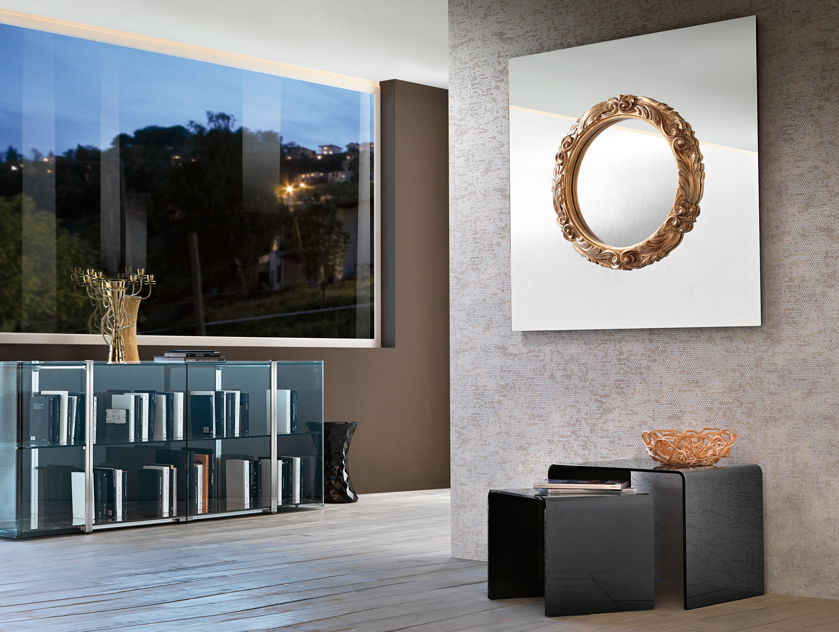 miroir mural ritratto 110 x 110 cm miroir cadre rond. Black Bedroom Furniture Sets. Home Design Ideas