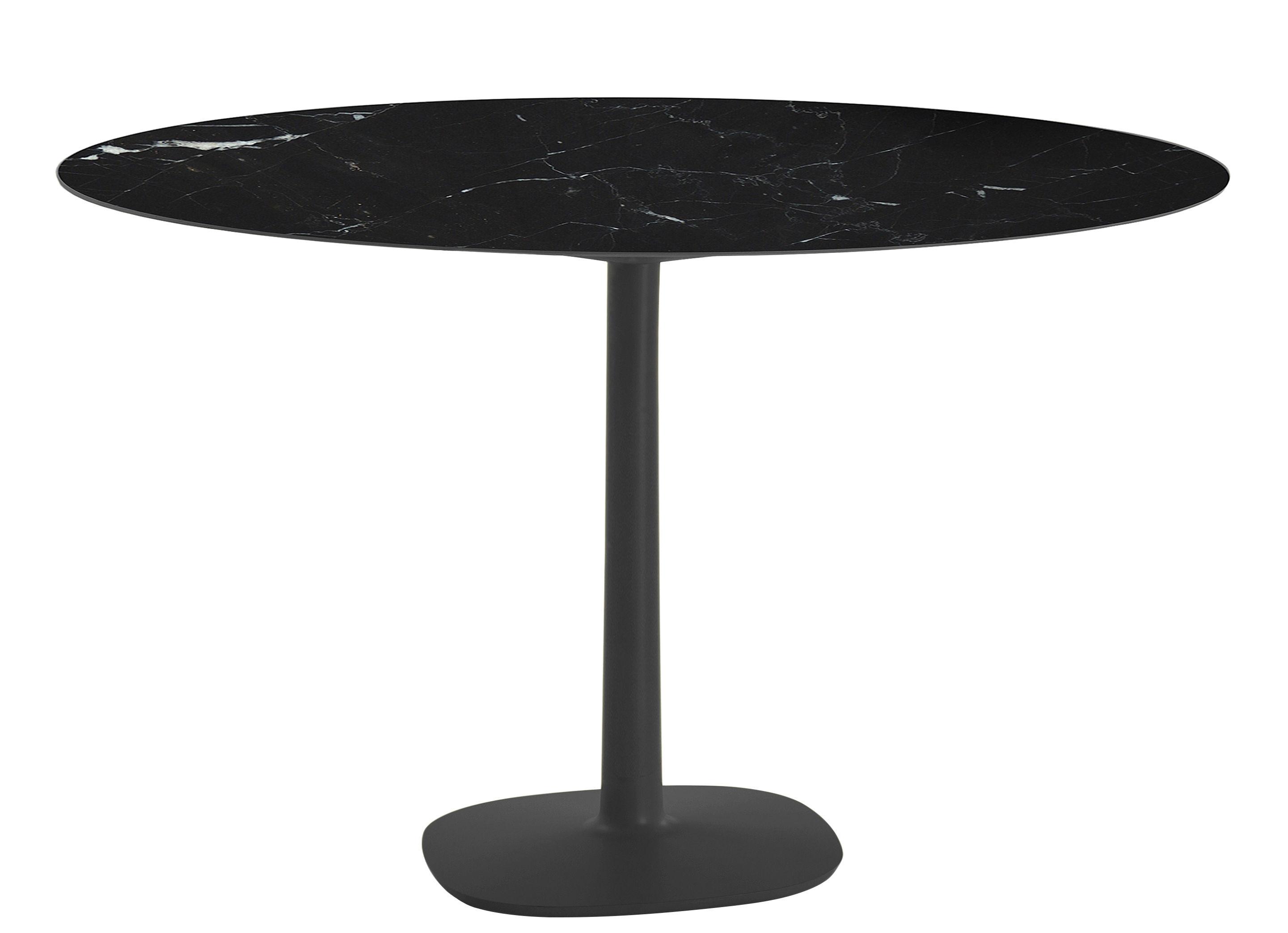 Table ronde Multiplo indoor/outdoor - Kartell - Noir - h 74 x Ø 118 ...