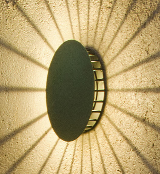 Lighting - Wall Lights - Meridiano Outdoor wall light by Vibia - Green - Lacquered metal, Polycarbonate