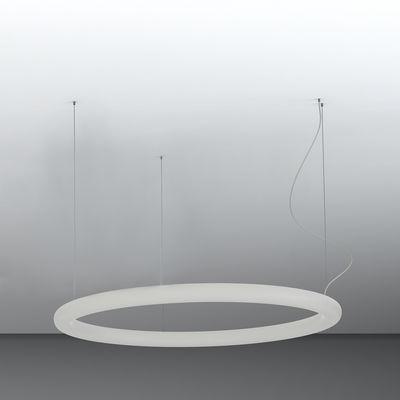 Lighting - Pendant Lighting - Giotto LED Pendant - / Ø 110 cm - Polyethylene by Slide - Ø 110 cm / White - recyclable polyethylene