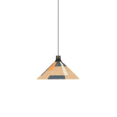Lighting - Pendant Lighting - Parrot S Pendant - / Ø 40 x H 22 cm - Hand-braided abaca by Forestier - Sand - Abaca, Oak