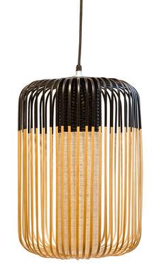 Bamboo Light L Outdoor Pendelleuchte / H 50 cm x Ø 35 cm - Forestier - Schwarz,Bambus Natur