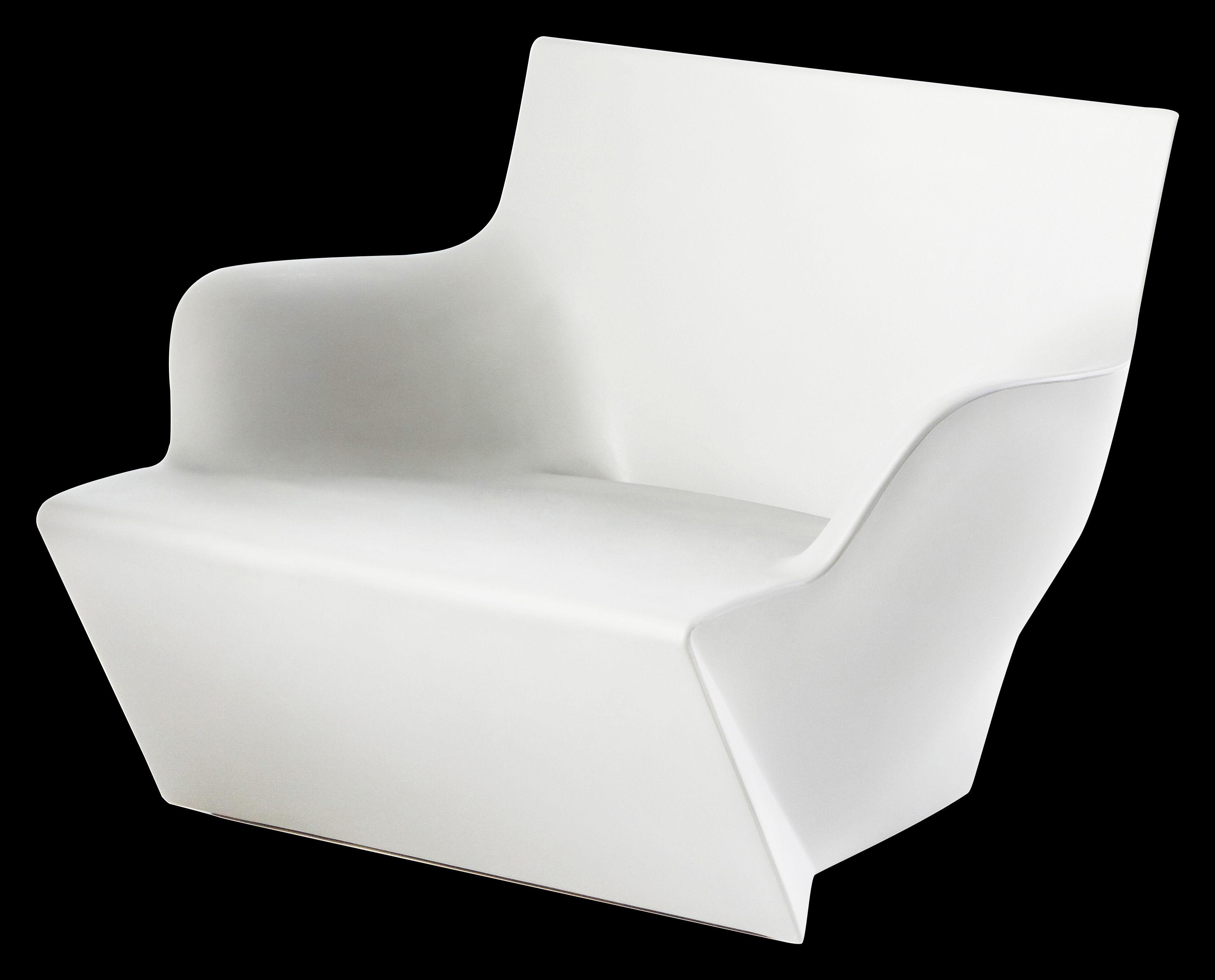 Arredamento - Mobili luminosi - Poltrona luminosa Kami San - /Luminosa di Slide - Bianco luminoso - polietilene riciclabile