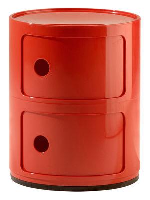 Arredamento - Mobili Ados  - Portaoggetti Componibili di Kartell - 2 elementi rossi - ABS