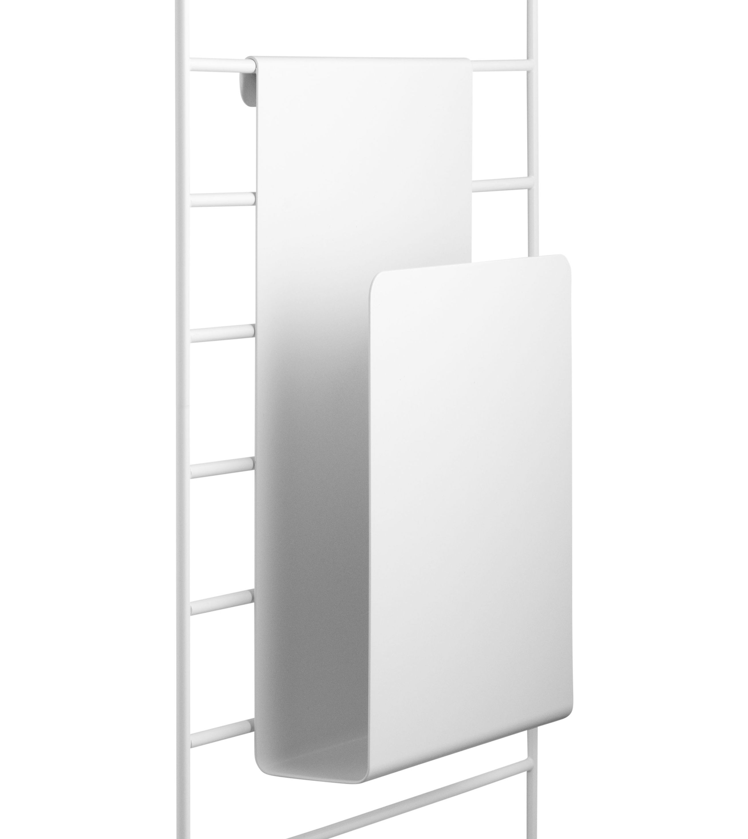 Arredamento - Scaffali e librerie - Portariviste - da appendere / Per mensole String di String Furniture - Bianco - metallo laccato