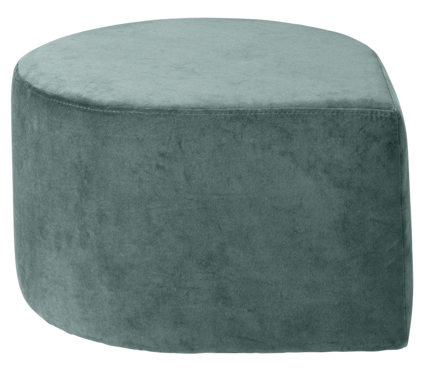 Furniture - Poufs & Floor Cushions - Stilla Pouf - / Velvet by AYTM - Antique green - Velvet