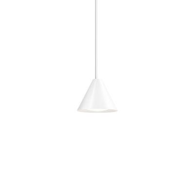 Luminaire - Suspensions - Suspension Keglen LED / Ø 17,5 cm - Aluminium - Louis Poulsen - Blanc - Aluminium
