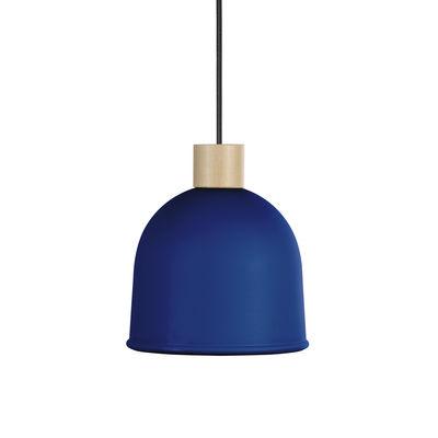 Suspension Ons / Ø 21,4 cm - Métal & bois - EASY LIGHT by Carpyen hêtre naturel,bleu océan en métal