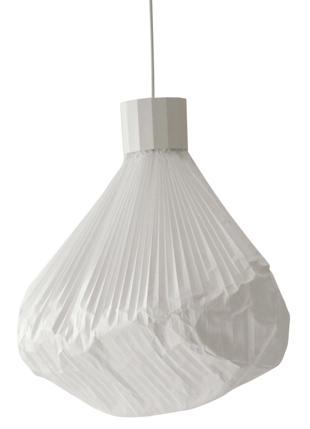 Luminaire - Suspensions - Suspension Vapeur - Moustache - Base blanche / Diffuseur blanc - Métal laqué, Papier Tyvek