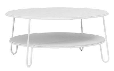Table basse Eugénie Large / Ø 90 - Marbre - Hartô blanc en métal