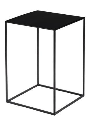 Table basse Slim Irony / 31 x 31 x H 46 cm - Zeus noir cuivré en métal