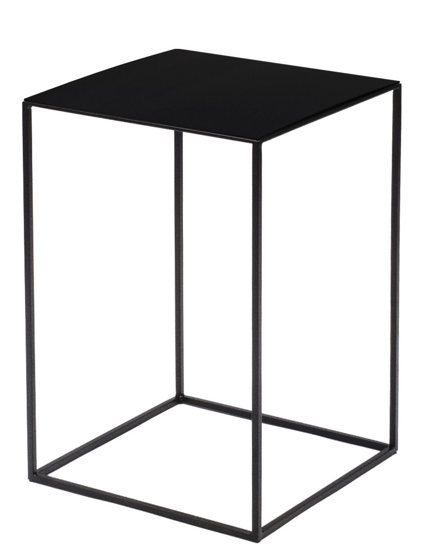 Mobilier - Tables basses - Table basse Slim Irony / 31 x 31 x H 46 cm - Zeus - Métal noir cuivré / Pied noir cuivré - Acier peint