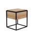Table de chevet Monolit / Chêne massif & métal - 1 tiroir - Ethnicraft