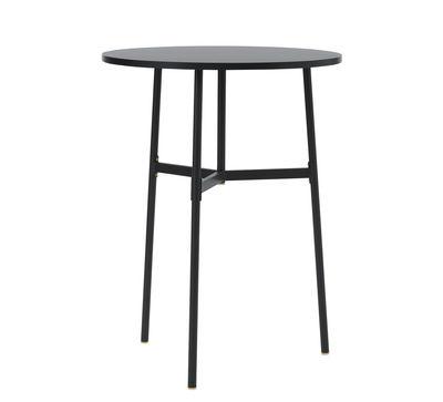 Table haute Union / Ø 80 x H 105,5 cm - Stratifié Fenix - Normann Copenhagen noir en métal