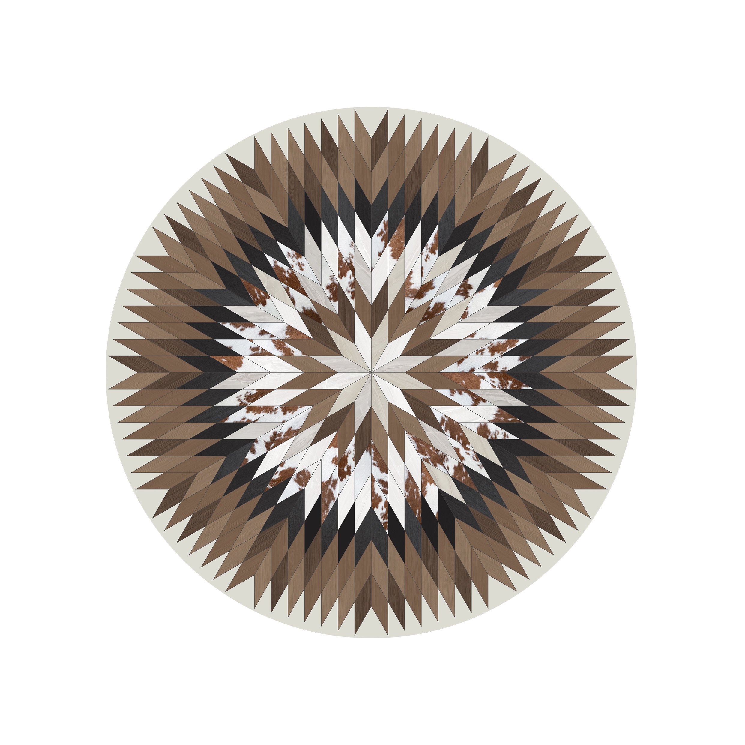 Tapis rodeo star p devache beige marron 99 made - Made in design tapis ...
