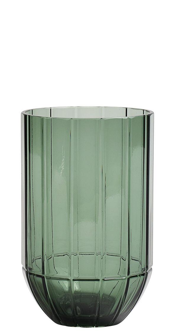 Dekoration - Vasen - Colour Medium Vase / Ø 9,5 cm x H 15 cm - Hay - Grün - geblasenes Glas