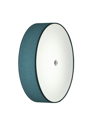 Lighting - Wall Lights - Discovolante LED Wall light - / Ø 40 cm by Modoluce - Petrol Blue / Ø 40 cm - Cotton, Plexiglas