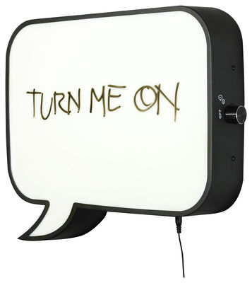 Decoration - Funny & surprising - Snakkes Wall light - LED / memo board by Northern  - Black - Acrylic, Lacquered steel
