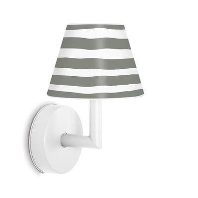 Applique d'extérieur Add the wally LED / Rechargeable - Variateur sensitif - H 22 cm - Fatboy blanc,gris en matière plastique