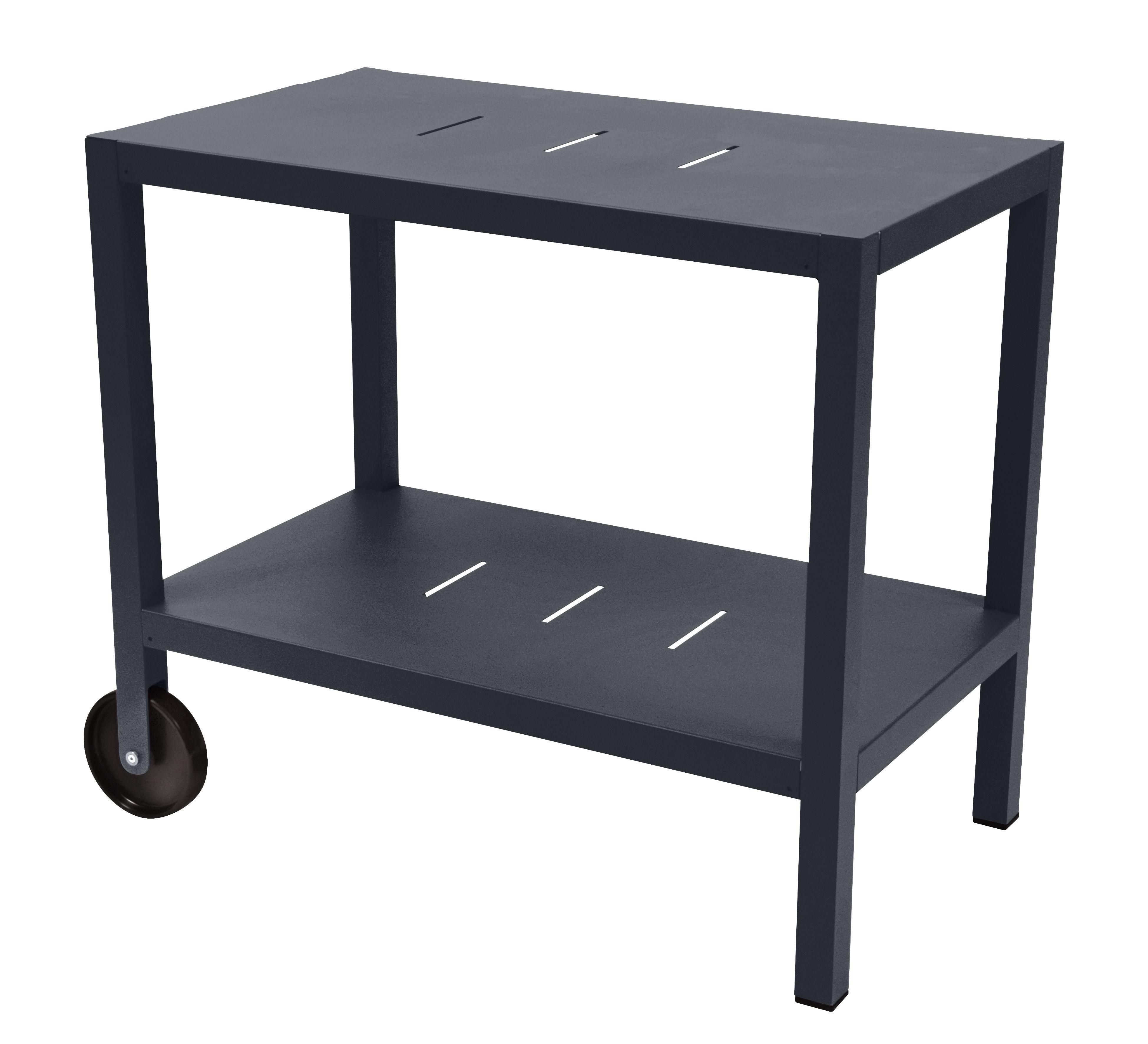 Arredamento - Complementi d'arredo - Carrello - tavolo d'appoggio Quiberon / Supporto per plancha - Fermob - Carbone - Acciaio, Alluminio