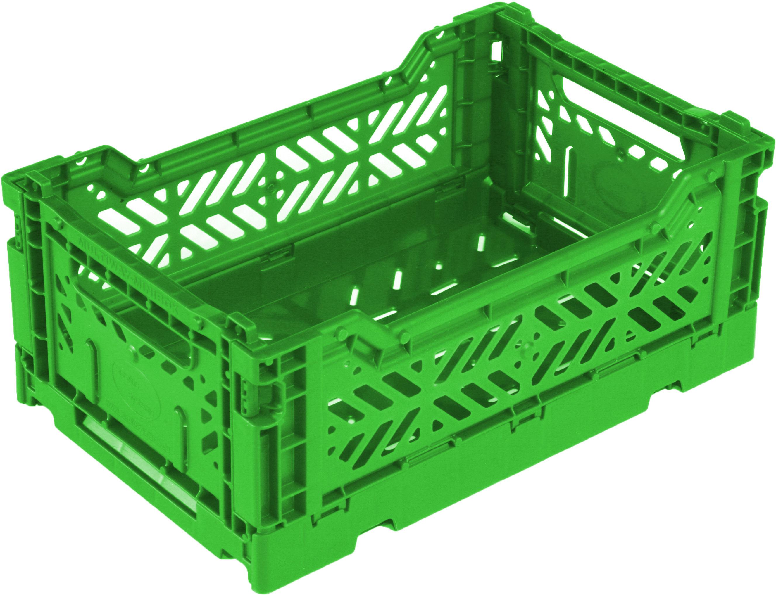 Accessoires - Accessoires bureau - Casier de rangement Mini Box / pliable L 26,5 cm - Surplus Systems - Pop Corn - Vert gazon - Polypropylène