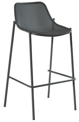 Chaise de bar Round / Métal - H 78 cm - Emu fer ancien en métal