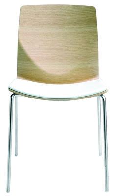 Mobilier - Chaises, fauteuils de salle à manger - Chaise empilable Kai / Bois - Lapalma - Chêne blanchi - Acier sablé, Multiplis de chêne blanchi