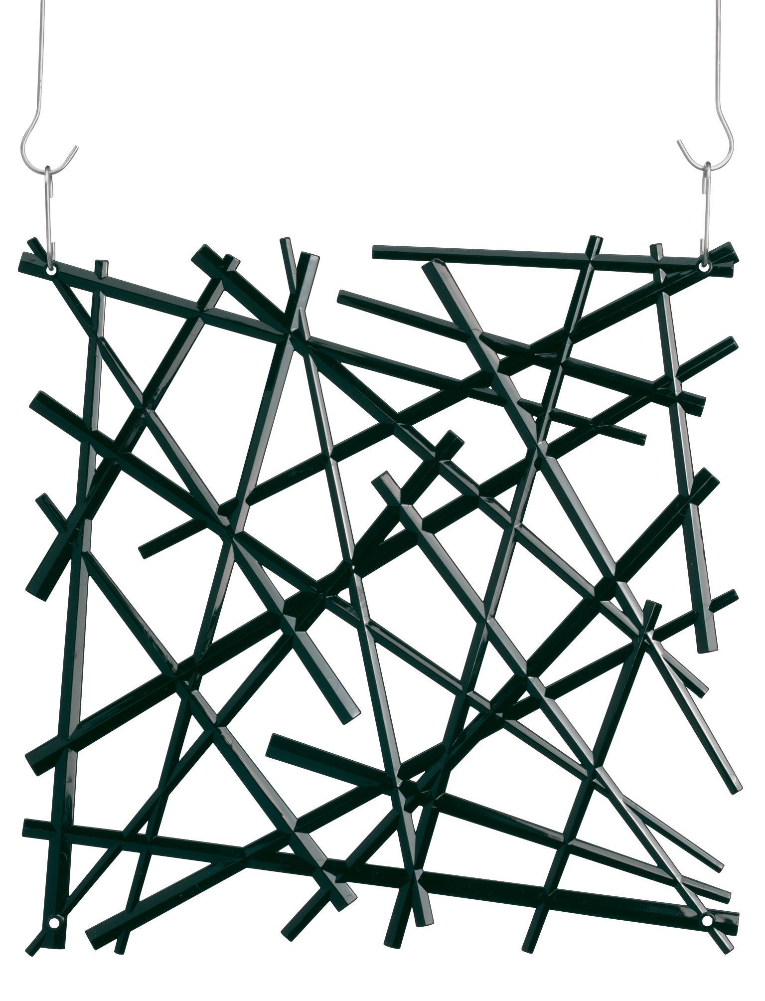 Mobilier - Paravents, séparations - Cloison Stixx / Set de 4 - Crochets inclus - Koziol - Noir opaque - Polycarbonate