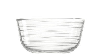 Coupelle Struttura Gusto / Ø 12 x H 6 cm - Leonardo transparent en verre