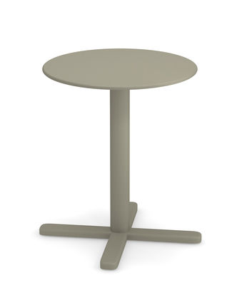 Outdoor - Garden Tables - Darwin Foldable table - / Ø 60 cm by Emu - Grey-green - Varnished steel
