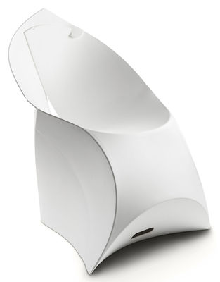 Furniture - Chairs - Flux Chair Folding armchair - Polypropylene by Flux - White - Polypropylene