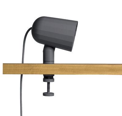 Illuminazione - Lampade da tavolo - Lampada a pinza Noc - / Base a morsa di Hay - Grigio - Alluminio