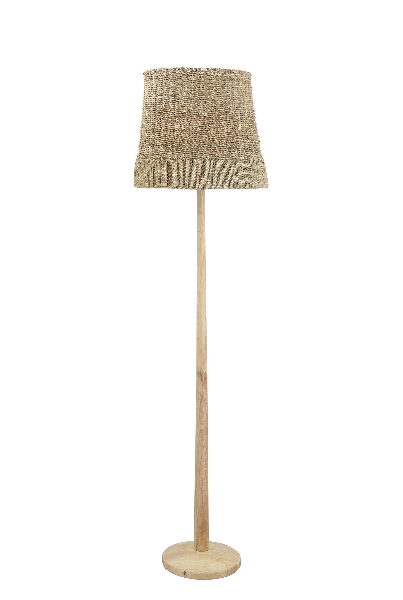 Illuminazione - Lampade da terra - Lampada a stelo Collected - / Rattan & legno di Bloomingville - Rattan naturale - Legno, Midollino
