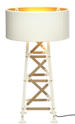 Lampadaire Construction Lamp Small / H 87 cm - Moooi blanc,bois naturel en métal