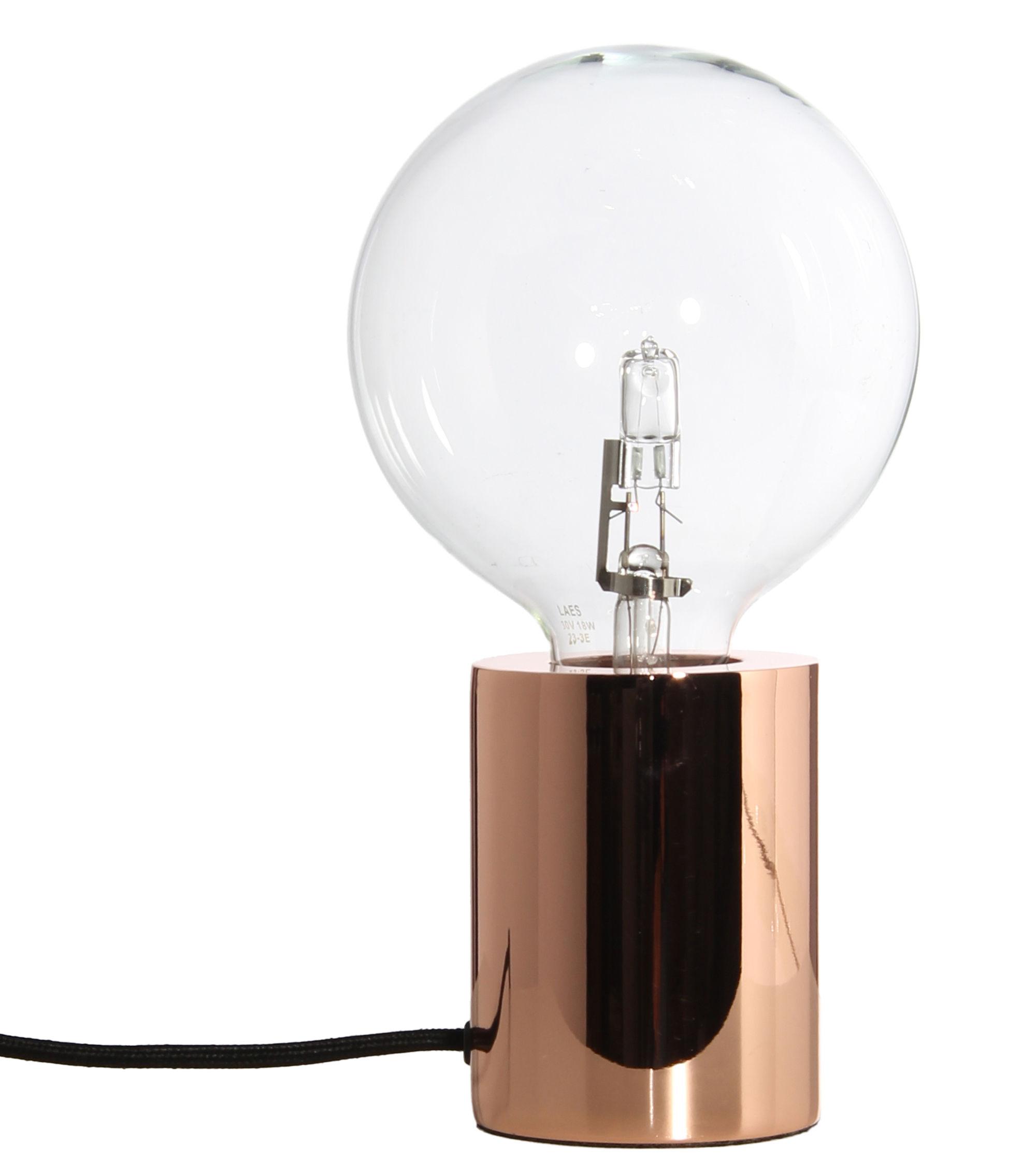 Luminaire - Lampes de table - Lampe de table Bristol / Cuivre - Frandsen - Cuivre / Câble noir - Métal