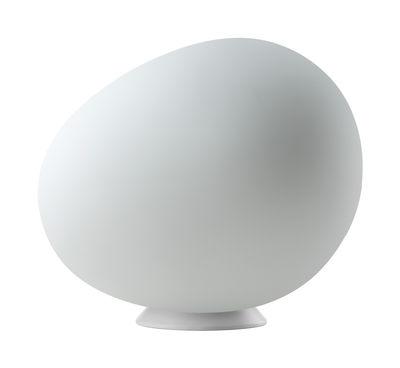 Luminaire - Lampes de table - Lampe de table Gregg Piccola /Outdoor - Plastique - L 31 cm - Foscarini - L 31 cm / Blanc - Acier inoxydable, Polyéthylène