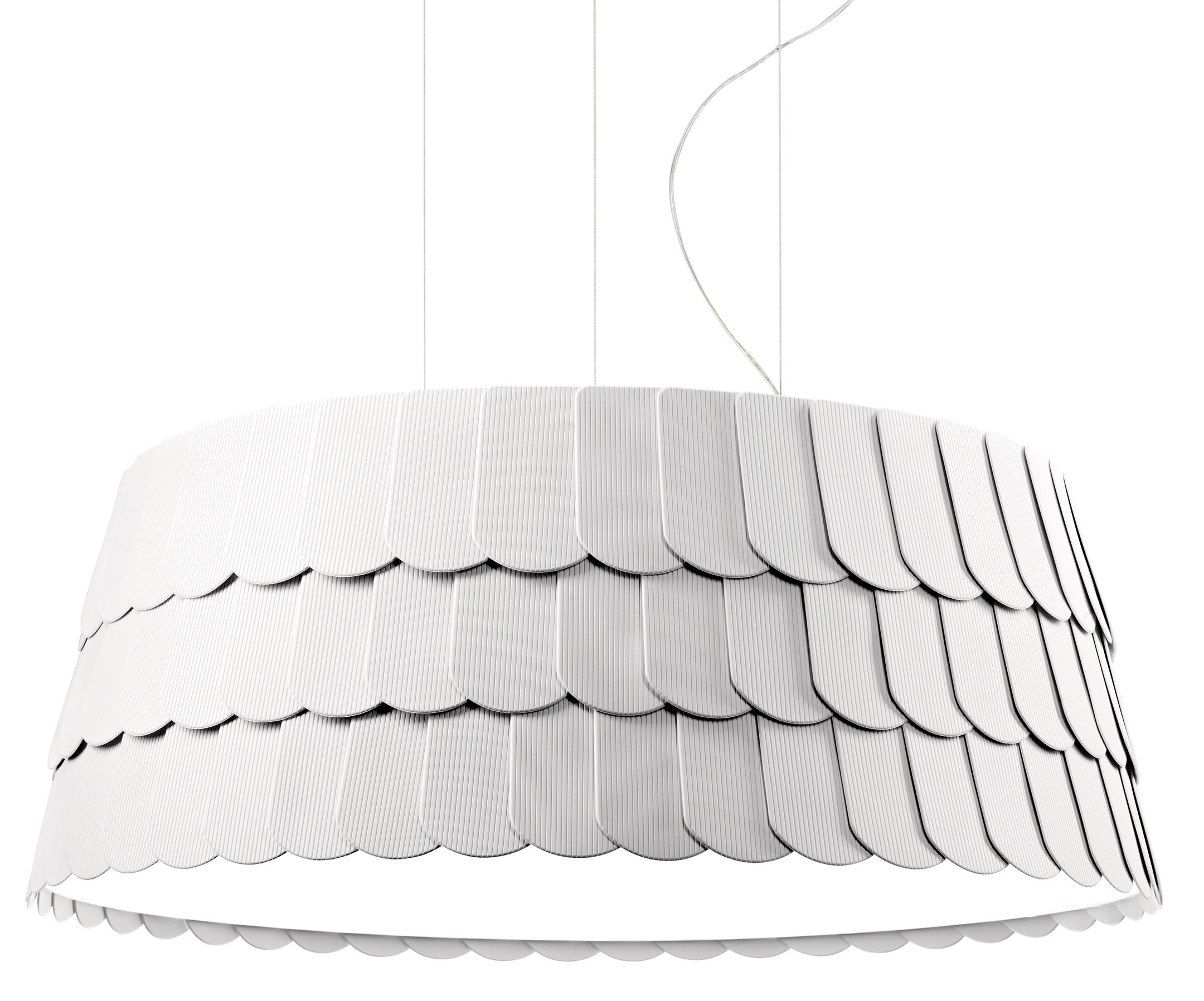 Lighting - Pendant Lighting - Roofer Pendant - Ø 79 x H 32 cm by Fabbian - White - Rubber