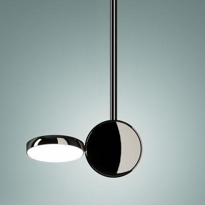Optunia Pendelleuchte / LED - verstellbar - H 56 cm - Fontana Arte - Verchromt