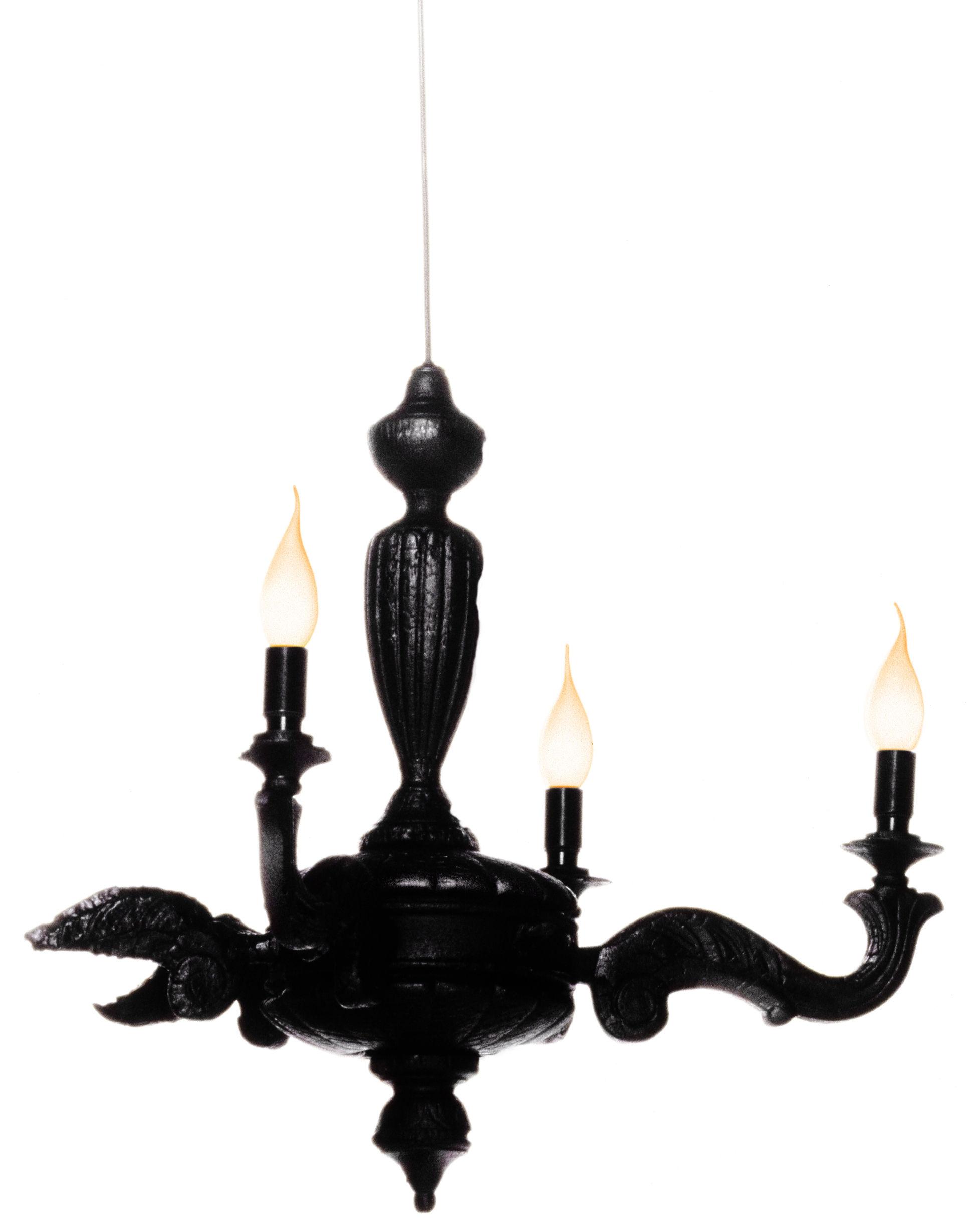Leuchten - Pendelleuchten - Smoke Chandelier Pendelleuchte - Moooi - Schwarz - geflammtes Holz