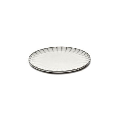 Tavola - Piatti  - Piatto da dessert Inku - / Ø 18 cm - Gres di Serax - Ø 18 cm / Bianco - Gres smaltato